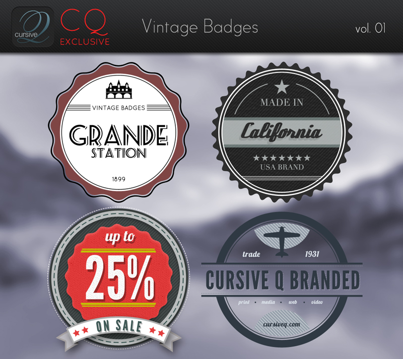 CQ Vintage Badges vol. 1